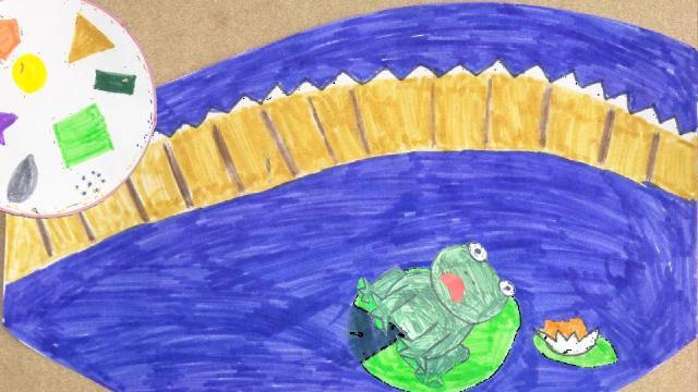 Der fröhliche Tag für den Frosch