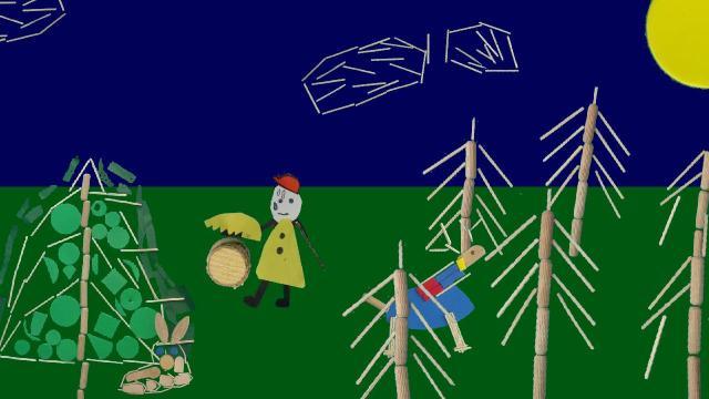 Das Einhorn im Wald