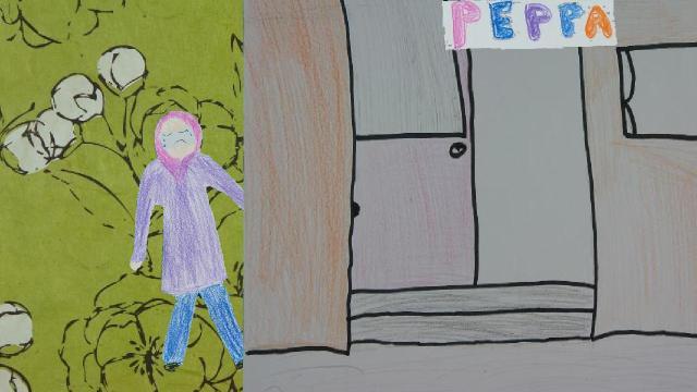 Girls support Peppa
